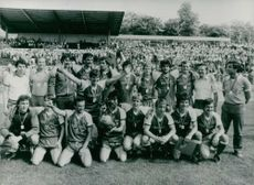 FC MAgdeburg winners of the 1983 East German Soccer Cup.