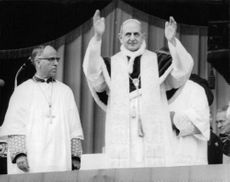 Pope Paul VI showing his gestures.