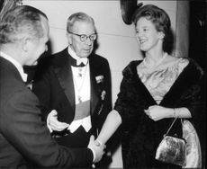 Princess Margrethe with King Gustaf Adolf at the Swedish-English Association's Annual Meeting
