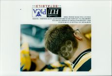 Coulter Kent Larsson with the OS rings clipped in the neck during the Olympic Games in Atlanta in 1996