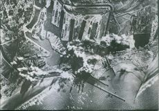 American planes bomb Dunkirk Bombs dropped by the Eighth U.S. Air Force explode on the docks and in the harbour of Dunkirk in German-occupied France.