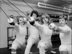 Swedish lady fencing