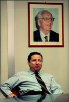 Formula 1 Ferrari factory in Italy. Formula 1 boss Jean Todt in his office