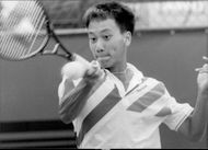 Michael Chang in action during French Open 1989