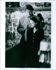 Still of Jodie Foster and Liam Neeson in the film Nell, 1995.