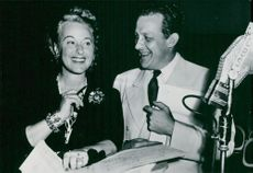 Actress Grace Moore participates in the radio