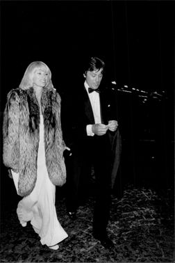 Actors Mirielle Darc and Alain Delon