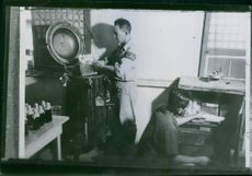 US soldiers have come over a sterilization machine in a hospital, taken from the Japanese. (Photo service)