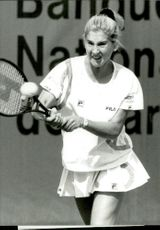 Monica Seles in action in French open