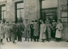 1936 Swedish, Neutral military attaches visits the Franco-German industrial companies during the World War.