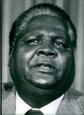 Portrait of Joshua Nkomo. 1984.