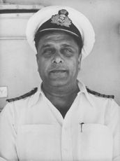 Captain Karmakar in a portrait.