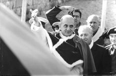 Pope Paul VI amidst the crowd.