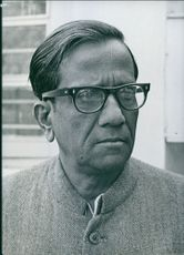 1972 Indian Personalities Close up of the Leader of the Communiate in Rajya Sabha (Upper House)   Bhupesh Gupta.