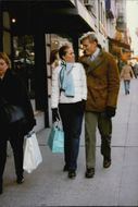 Dolph Lundgren with his wife during a shopping trip in New York.