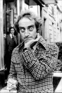 Marty Feldman stopped for some poses during his stay in France.