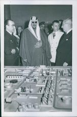 King Saud looking the Spanish Oil Refineries.