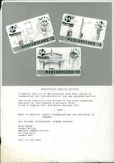 Mercury Communications card.