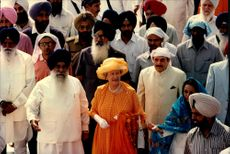 "Queen Elizabeth and Prince Philip visited the Sikh's holy city and ""Temple of Gold"" during their state visit in India."