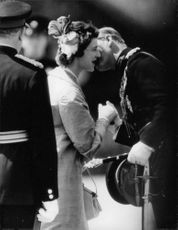 A man kissed Princess Alexandra.