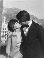 Leslie Caron with a man.