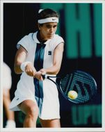 Tennis player Mary Joe Fernandez