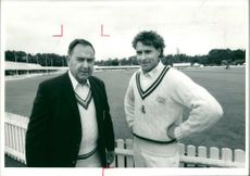 Colin Cowdrey Cricketer and son christopher.