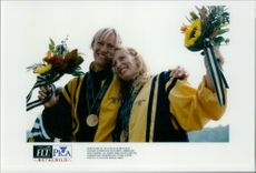 OS in Atlanta 1996. Susanne Gunnarsson and Agneta Andersson took gold in K2