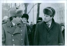 Michael Elphick and William Hurt in a scene from the film Gorky Park, 1983.