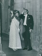 Princess Margriet of the Netherlands together with her husband Pieter van Vollenhoven. August 3, 1966.