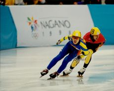Winter Olympics in Nagano 1998. Speed ??Skating.
