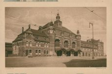 Postcards: railway station