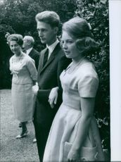 Carl, Duke of Württemberg and Diane of France at their wedding 1960.