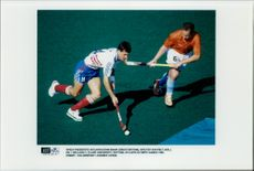 Olympic Games in Landhockey. John Shaw UK and Wouter van Pelt, The Netherlands
