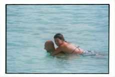 Linda Evangelista and boyfriend Fabien Barthez are enjoying the holidays at the Caribbean Sea