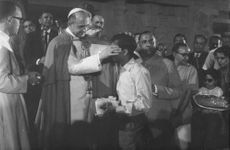 Pope Paul VI performing a religious ceremony.
