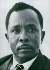1968 Tanzanian politicians Portrait of Mwinyi Aboud Jumbe Minister of State in the Office of the First Vice-President (Zanzibar).