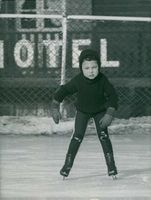 Jacques Charrier doing ice skating.