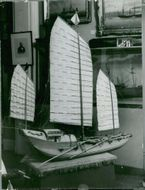 A model vessel at the Maritime Museum