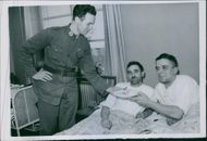 1939 - The castaway Germans in Swedish hospital after their ship ran aground.