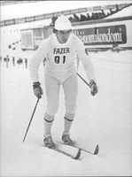 Cross country skis. Nikolai Bazhukov from the Soviet Union