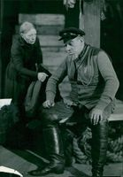 "Hilda Borgström and Georg Blickingberg in ""Fisherman, Human Fisherman"" at Dramaten"