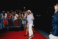 Spike Lee with his wife on the red carpet