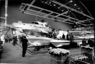 Boat fair at Earls Court in London