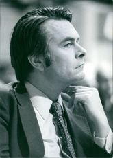 British Politicians Portrait of David Owen. Secretary of State for Foreign Affairs, since February 1977 (formerly Minister of State for Foreign Affairs). 1977