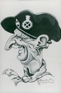 Caricature of Field Marshal Viscount Montgomery