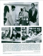 Scenes from the film Dangerous Minds with Michelle Pfeiffe , Norris Young, Rahman Ibraheem, George Dzundza, Renoly Santiago, Bruklin Harris and Richard Grant.