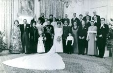 Princess Margriet's family picture after the wedding.