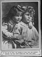 Princess Elizabeth and Prince David Bowes-Lyon at 4 and 3 years of age respectively
