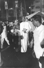 Pope Paul VI standing in road.